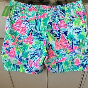 Lilly Pulitzer Shorts - Lilly Pulitzer Beaumont Shorts Salt In The Air NWT